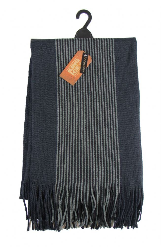Mens knitted scarf winter scarf